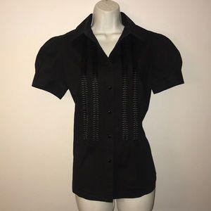 tuxedo blouse